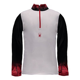 Spyder Linear DRY W.E.B. T-Neck Mens Mid Layer, White-Black-Red, 256