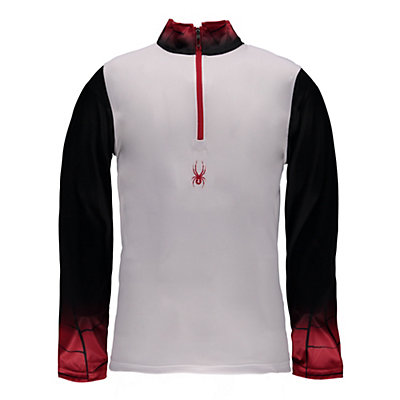 Spyder Linear DRY W.E.B. T-Neck Mens Mid Layer, White-Black-Red, viewer