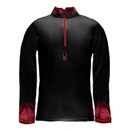 Spyder Linear DRY W.E.B. T-Neck Mens Mid Layer, Black-Red-Red, 256