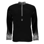 Spyder Linear DRY W.E.B. T-Neck Mens Mid Layer, Black-Black-Cirrus, medium