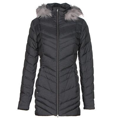 Spyder Timeless Long Faux Fur Womens Jacket, Black, viewer