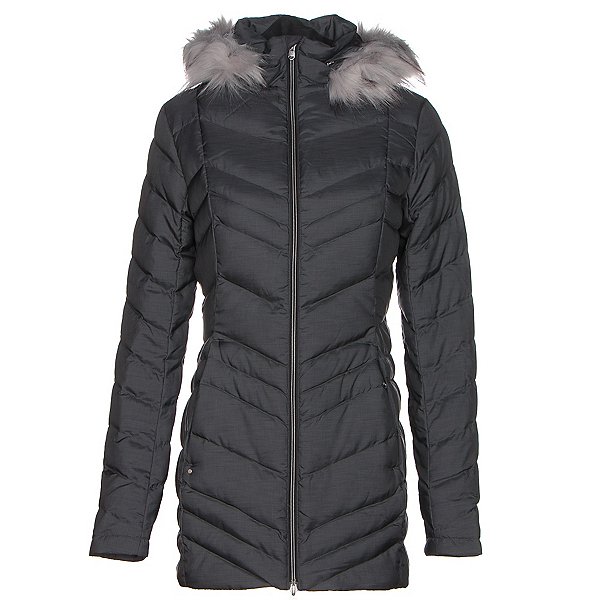 Spyder Timeless Long Faux Fur Womens Jacket, Black, 600