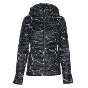 Spyder Timeless Hoody Womens Jacket, Waves Black Print-Black, medium