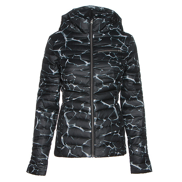 Spyder Timeless Hoody Womens Jacket, Waves Black Print-Black, 600