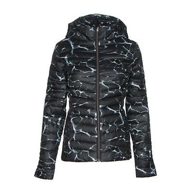 Spyder Timeless Hoody Womens Jacket, Waves Black Print-Black, viewer