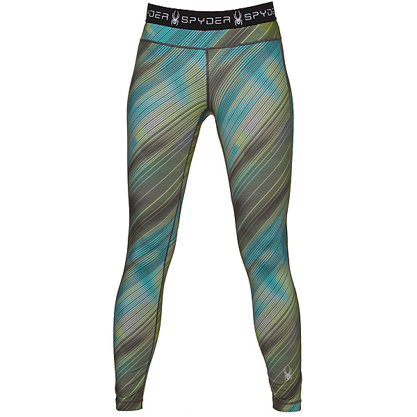Spyder Spy-Dher Tight Womens Long Underwear Pants, Geo Rays Acid Print, 600