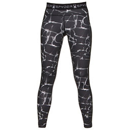 Spyder Spy-Dher Tight Womens Long Underwear Pants, Waves Black Print, 256