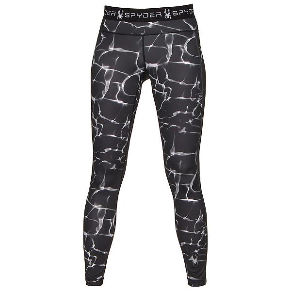 Spyder Spy-Dher Tight Womens Long Underwear Pants, Waves Black Print, 600