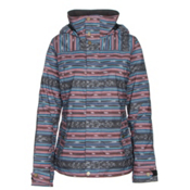 Burton Jet Set Womens Insulated Snowboard Jacket, Mala Stripe, medium