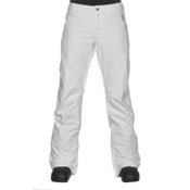 Burton Society Insulated Womens Snowboard Pants, Stout White, medium