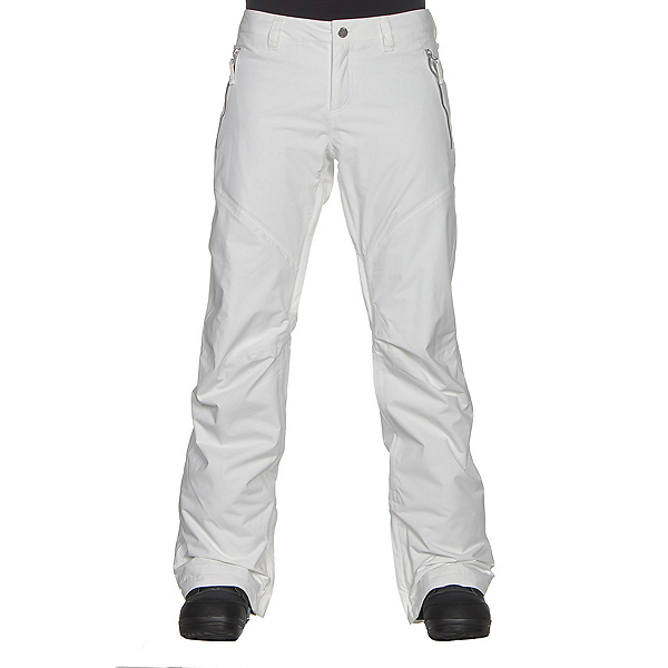 Burton Society Insulated Womens Snowboard Pants, Stout White, 600