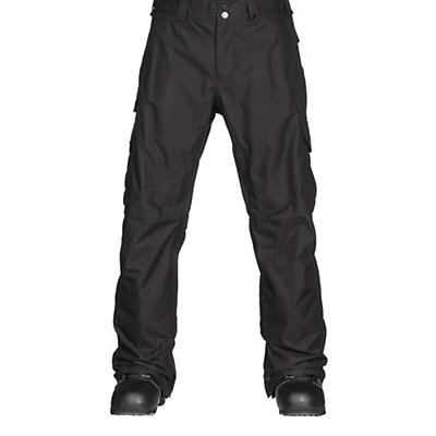 Burton Cargo Classic Short Mens Snowboard Pants, True Black, viewer