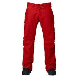 Burton Cargo Classic Short Mens Snowboard Pants, Process Red, 256