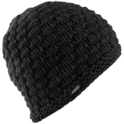 Burton Big Bertha Beanie Womens Hat, True Black, medium