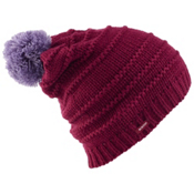 Burton Candy Stripe Beanie Womens Hat, Sangria, medium