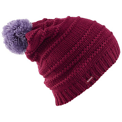 Burton Candy Stripe Beanie Womens Hat, Mood Indigo, viewer