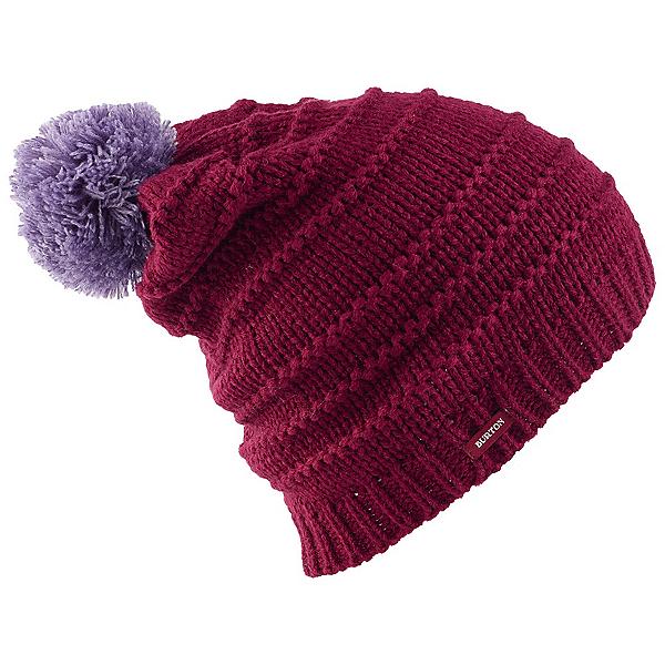 Burton Candy Stripe Beanie Womens Hat, Sangria, 600