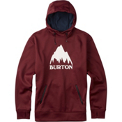 Burton Crown Bonded Pullover Hoodie, Wino, medium