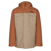 Burton Covert Mens Insulated Snowboard Jacket, True Penny-Kelp, medium