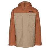 Burton Covert Mens Insulated Snowboard Jacket, True Penny-Kelp, medium
