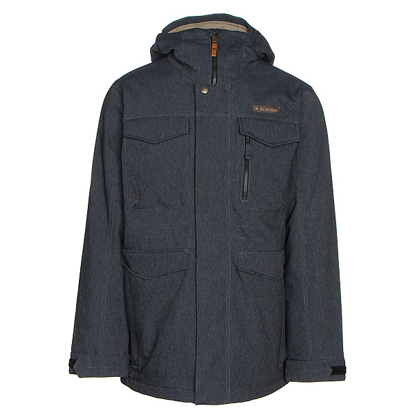 Burton Covert Mens Insulated Snowboard Jacket, Denim, 600
