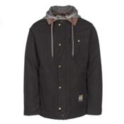 Burton Dunmore Mens Insulated Snowboard Jacket, True Black Oxford, medium