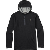 Burton Dexter Hooded Henley Mens Hoodie, True Black Heather, medium