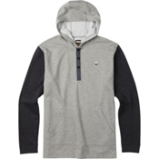 Burton Dexter Hooded Henley Mens Hoodie, Monument Heather, medium