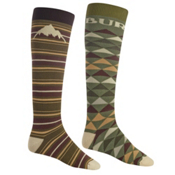 Burton Weekend 2 Pack Snowboard Socks, Keef, medium