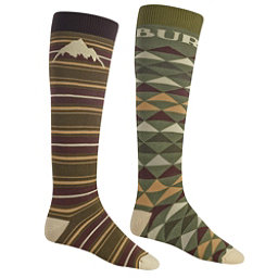 Burton Weekend 2 Pack Snowboard Socks, Keef, 256