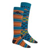 Burton Weekend 2 Pack Snowboard Socks, Maui Sunset, medium