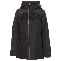 Burton Hazel w/Faux Fur Womens Insulated Snowboard Jacket, True Black-True Black Denim, 256