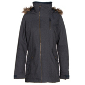Burton Hazel w/Faux Fur Womens Insulated Snowboard Jacket, Denim, medium