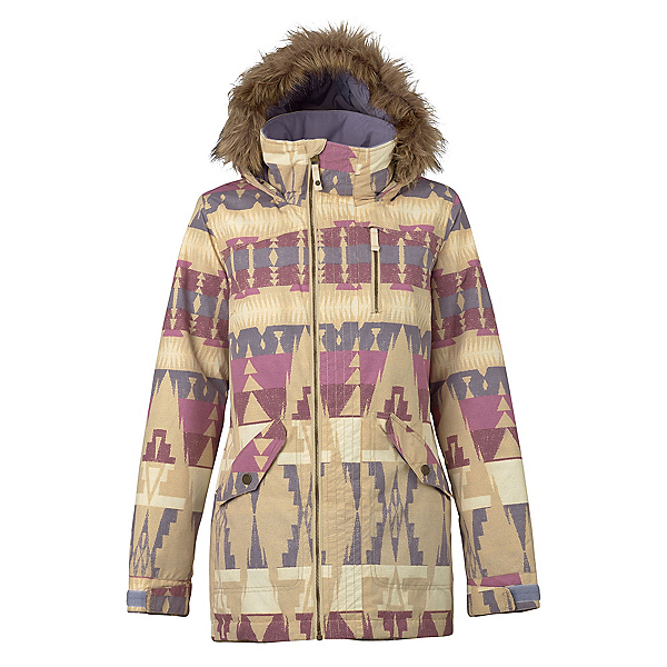 Burton Hazel w/Faux Fur Womens Insulated Snowboard Jacket, Vision Quest, 600