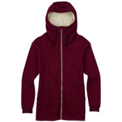 Burton Minxy Full Zip Fleece Womens Hoodie, Sangria Heather, medium