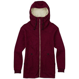 Burton Minxy Full Zip Fleece Womens Hoodie, Sangria Heather, 256