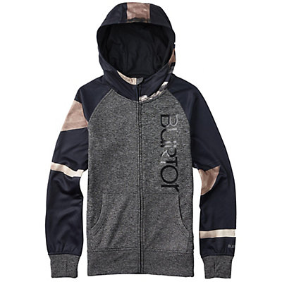 Burton Quartz Full Zip Womens Hoodie, True Black Heather, viewer