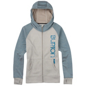 Burton Quartz Full Zip Womens Hoodie, Dove Heather, medium