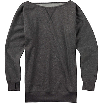 Burton Womens Crimson Fleece, True Black Heather, viewer