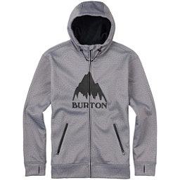 Burton Bonded Full Zip Mens Hoodie, Monument Heather, 256
