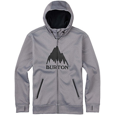 Burton Bonded Full Zip Mens Hoodie, Monument Heather, viewer