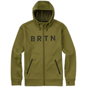 Burton Bonded Full Zip Mens Hoodie, Olive Branch, medium