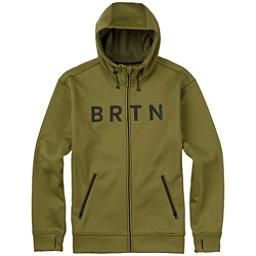 Burton Bonded Full Zip Mens Hoodie, Olive Branch, 256