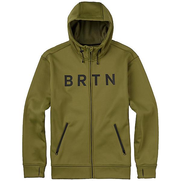 Burton Bonded Full Zip Mens Hoodie, Olive Branch, 600