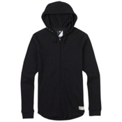 Burton Analog Overlay Full Zip Thermal Hoodie, True Black, medium