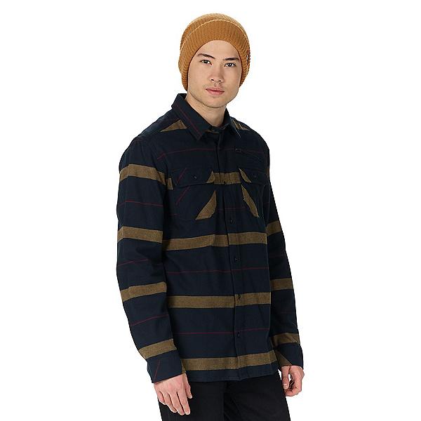 Burton Analog Transmission Mens Flannel Shirt, True Black, 600