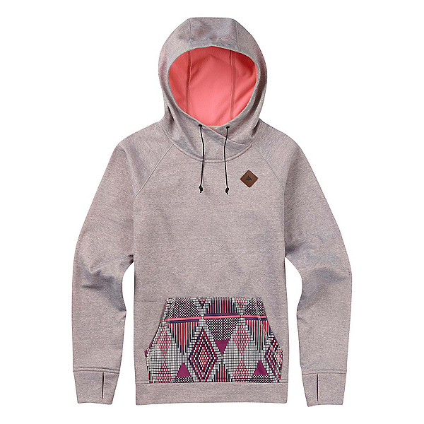 Burton Heron Pullover Womens Hoodie, Canvas Heather, 600