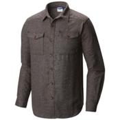 Columbia Sage Butte Long Sleeve Mens Flannel Shirt, Shark, medium
