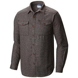 Columbia Sage Butte Long Sleeve Mens Flannel Shirt, Shark, 256