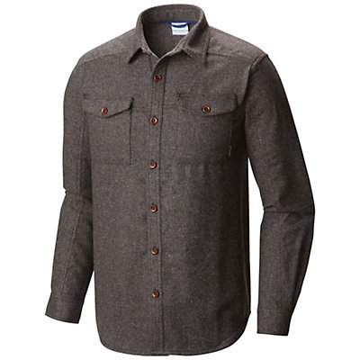 Columbia Sage Butte Long Sleeve Mens Flannel Shirt, Shark, viewer
